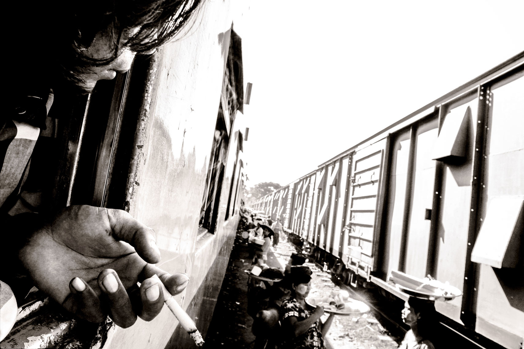 Ciggy on the tracks